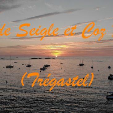 Ile de Seigle et coucher de soleil sur le Coz Pors (vidéo)
